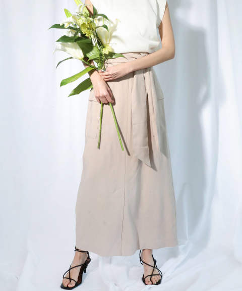 MILITARY TIGHT SKIRT / ミリタリータイトスカート A20SS206-BEIGE-S ANT