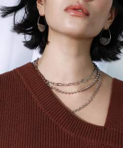 LAYERED CHAIN NECKLESS / レイヤードチェーンネックレス