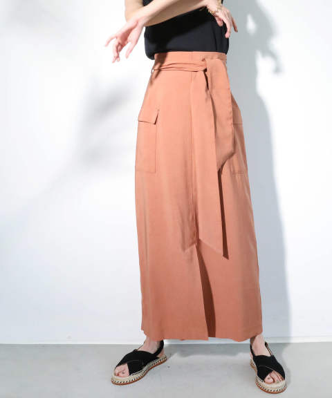 MILITARY TIGHT SKIRT / ミリタリータイトスカート A20SS206-PINKBROWN-S ANT